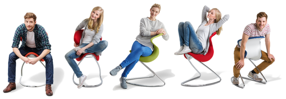A completely new way of sitting which invites you to move more and assume various sitting positions. oyo® is new, daring & unique.