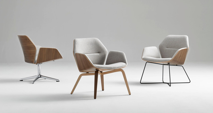 The Ginkgo Lounge Low Back offers a comfortable, clean design with a small footprint.