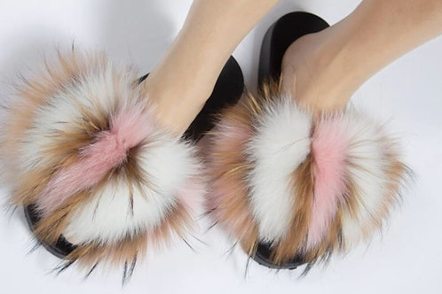 Mix pink white and brown slides