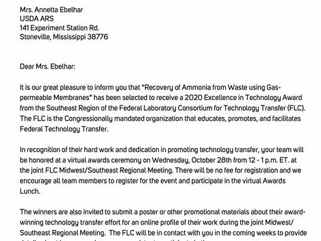 Quick Wash Ammonia wins Regional FLC Award