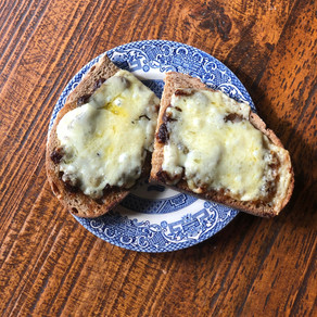 green tomato cheese on toast