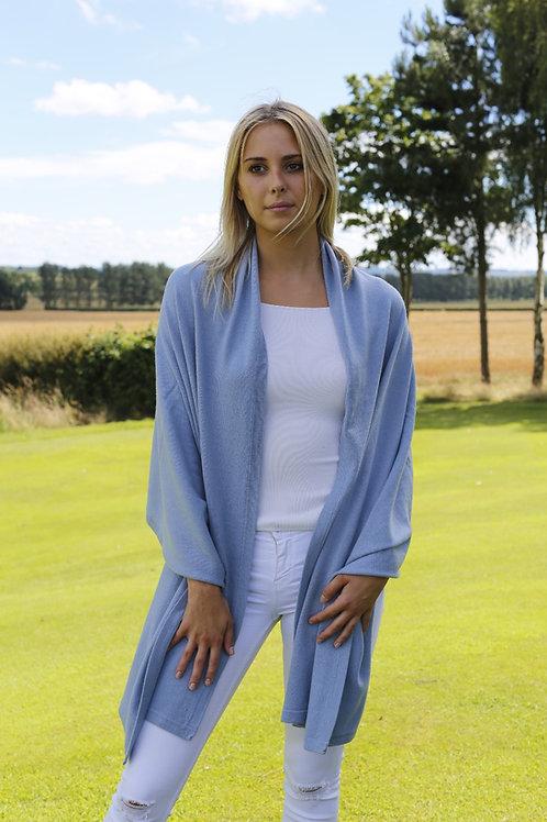 Cashmere Wrap - Pale Blue
