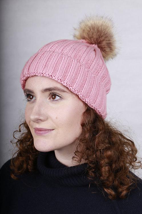 Bobble Hat - Pink
