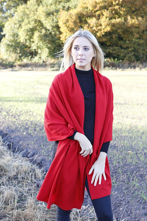 Cashmere Wrap - Red