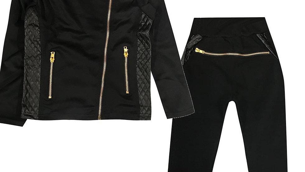JOGGING de sport fille - Veste soyeuse zippé + jogging en molleton
