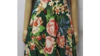 Robe enfants vert à fleurs