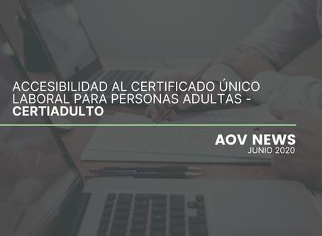 Accesibilidad al Certificado Único Laboral para Personas Adultas - CERTIADULTO