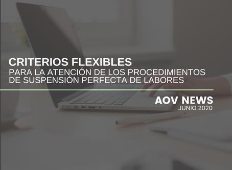 Criterios flexibles para la Suspensión Perfecta de Labores