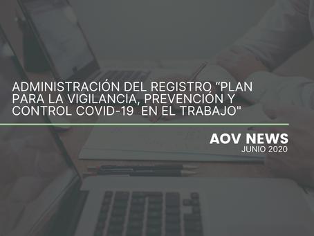"""Administración del Registro: """"Plan para la Vigilancia, Prevención y Control Covid-19 en el Trabajo"""""""