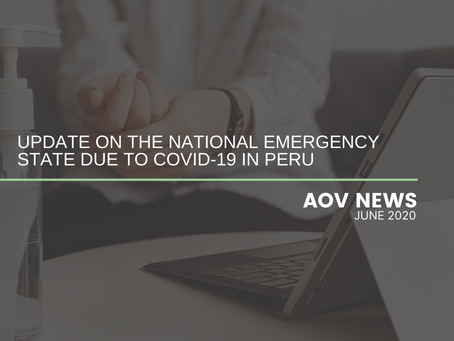 Update on the National Emergency State due to COVID-19 in Peru