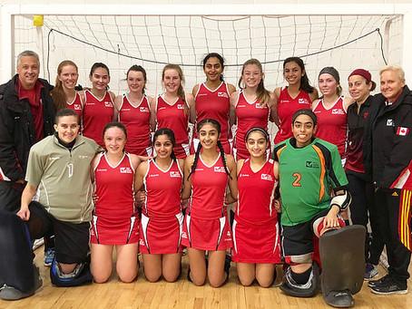 CFHCC U-19 GIRLS REPRESENT ONTARIO INDOOR TEAM