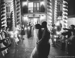 Romantic Kiss at Night