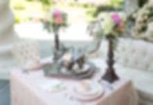 Classic Tea table setting at The Empress Estate