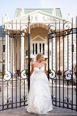 Bride at the Gated Entrance