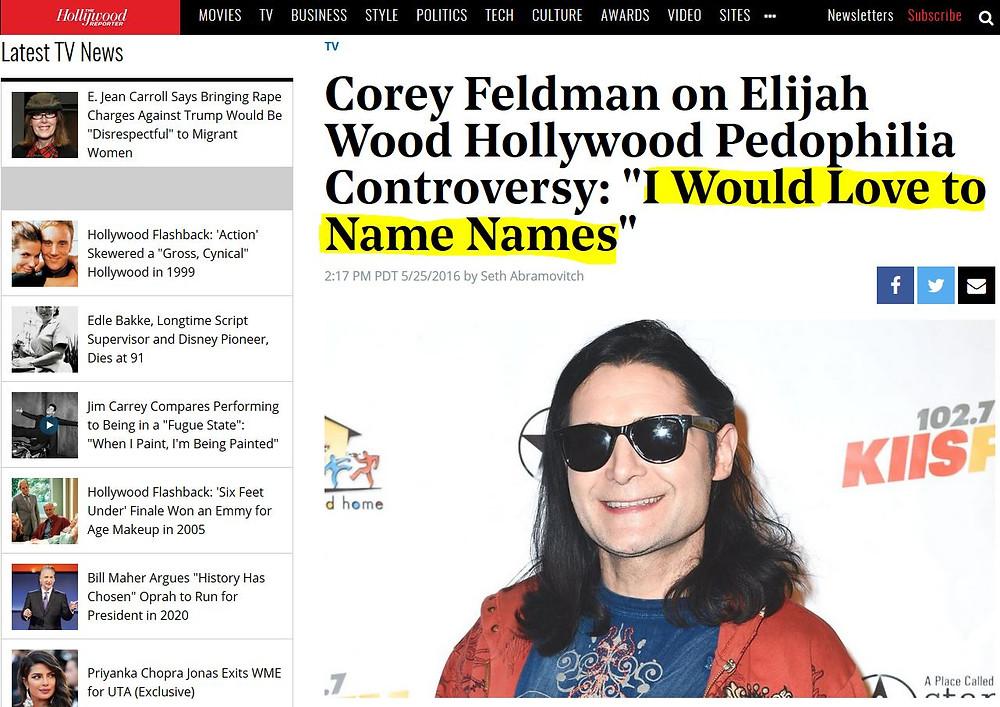 Corey Feldman Elijah Wood Pädophilie