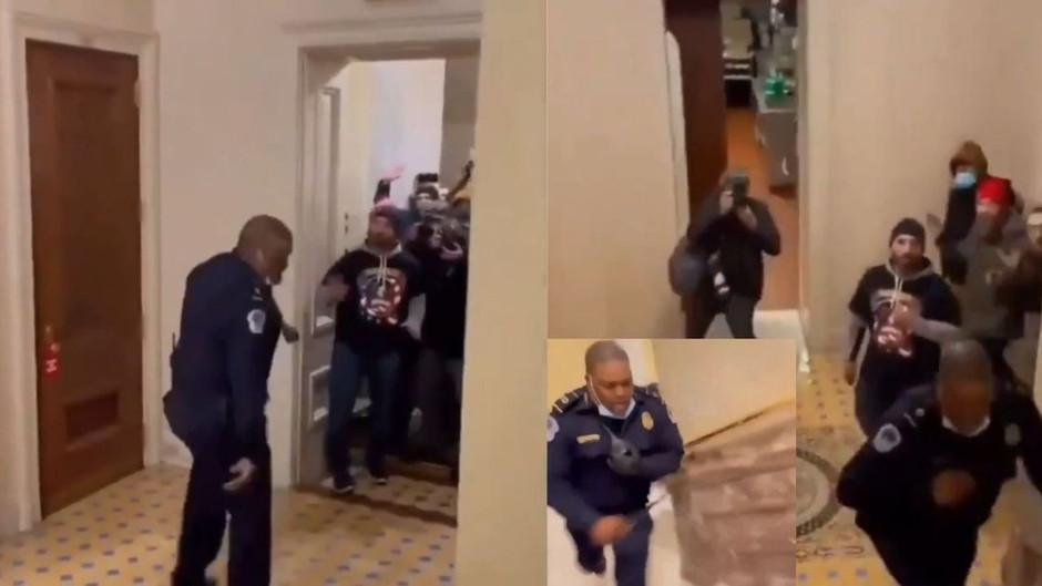 Erwischt – Korrupter Cop führt Antifa/BLM durch das Kapitol! (Der Sturm war ein Stunt!)