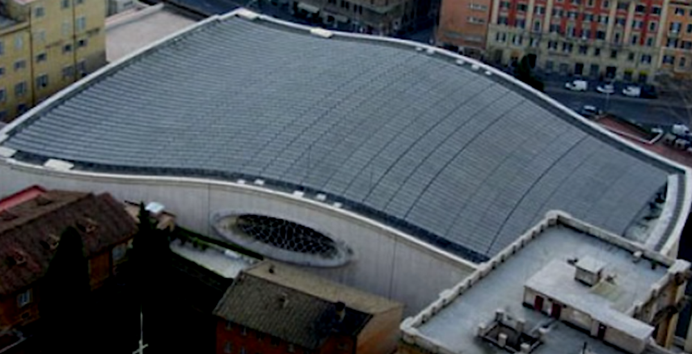 Audienzhalle Vatikan Papst Reptiloid schlange