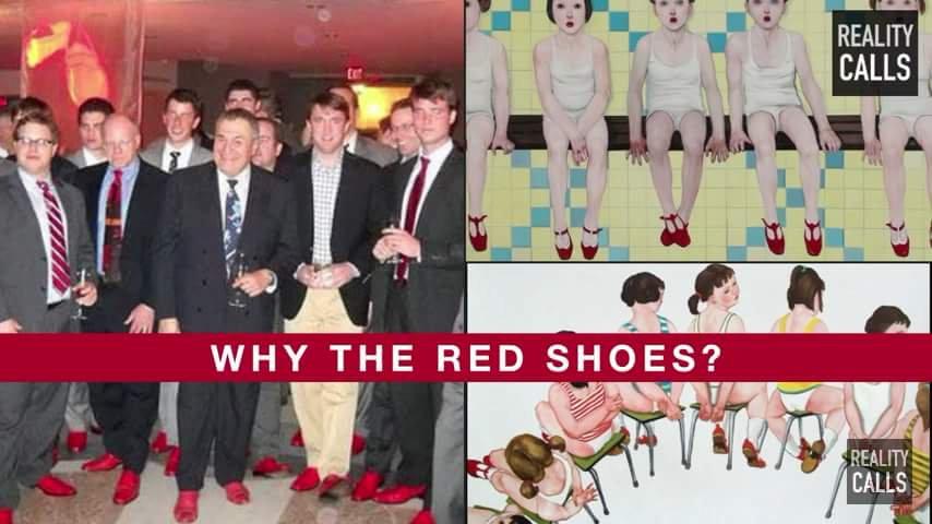 Pizzagate MK-Ultra Rote Schuhe