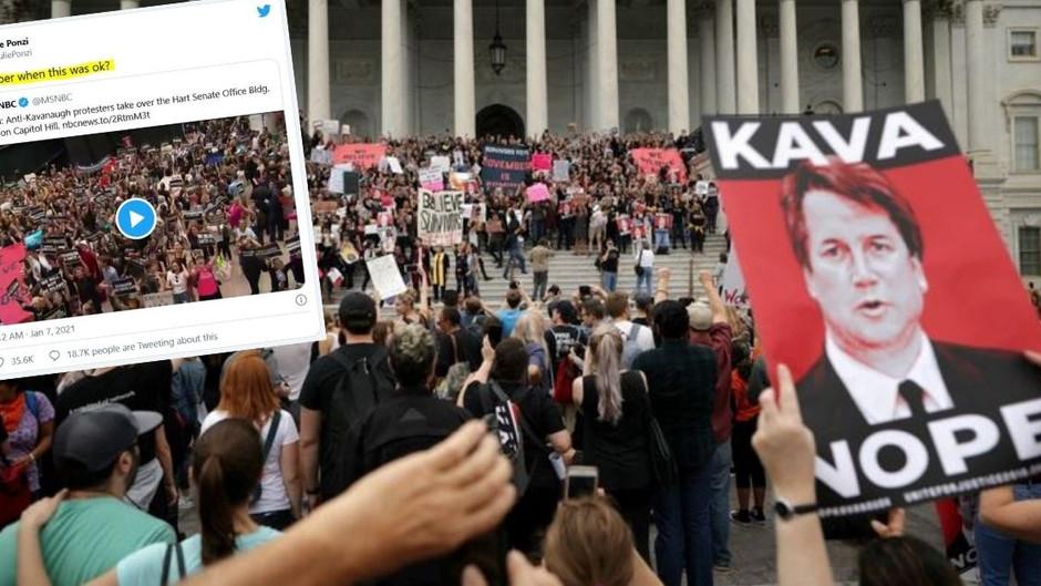 Doppelmoral – Als Richter Kavanaugh 2018 ernannt wurde, war es OK, das Kapitol zu stürmen!?