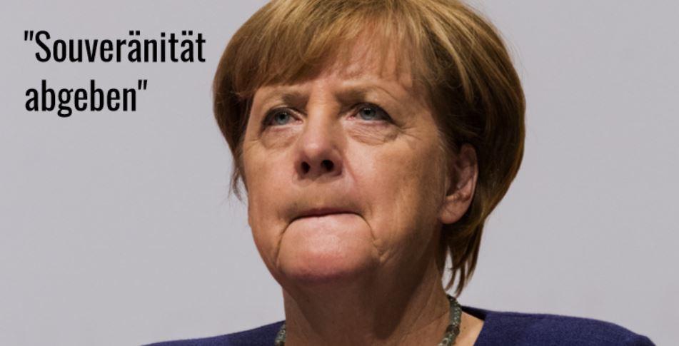 Merkel Souveränität abgeben
