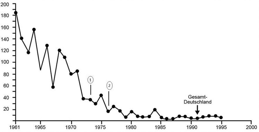 Sterblichkeitsrate bei Masern