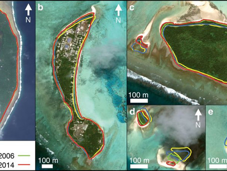 Südpazifik - Neue Studie bestätigt, dass 74% der Inseln in den letzten Jahren an Fläche zulegten!