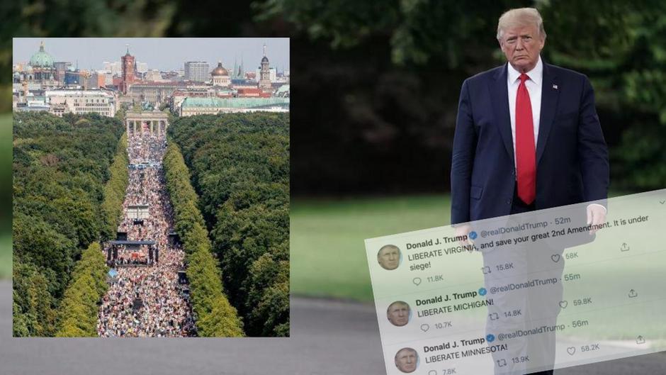 Verbot hin oder her – Trump unterstützt Proteste gegen die Corona-Diktatur!