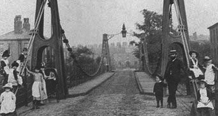 Broughton Suspension Bridge Resonanzkatastrophe