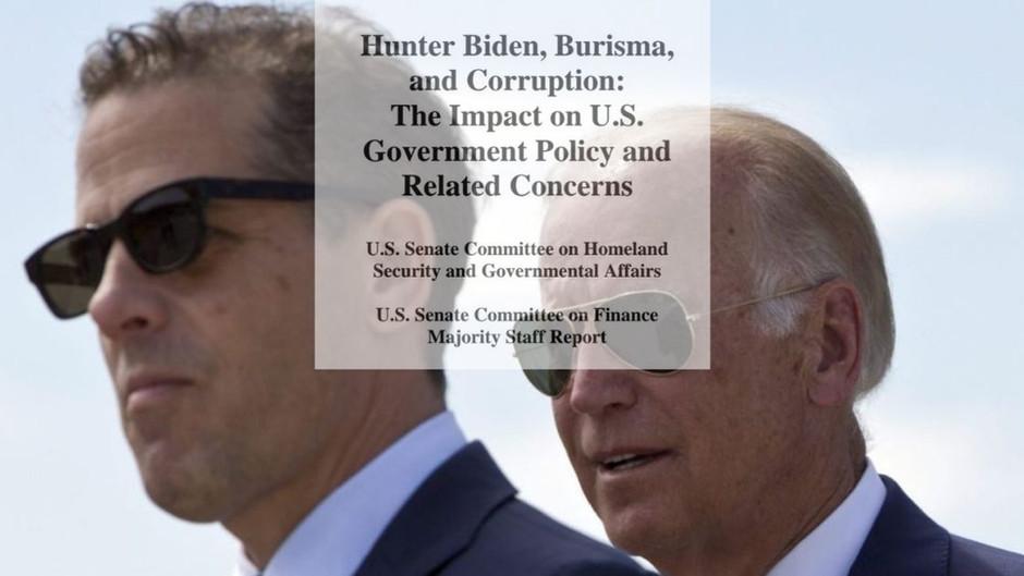 POLITBOMBE: Neuer U.S. SENATE REPORT bringt BIDEN mit MENSCHENHANDEL in Verbindung!
