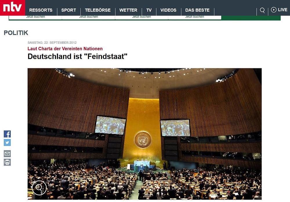 UN Charta Deutschland Feindstaat
