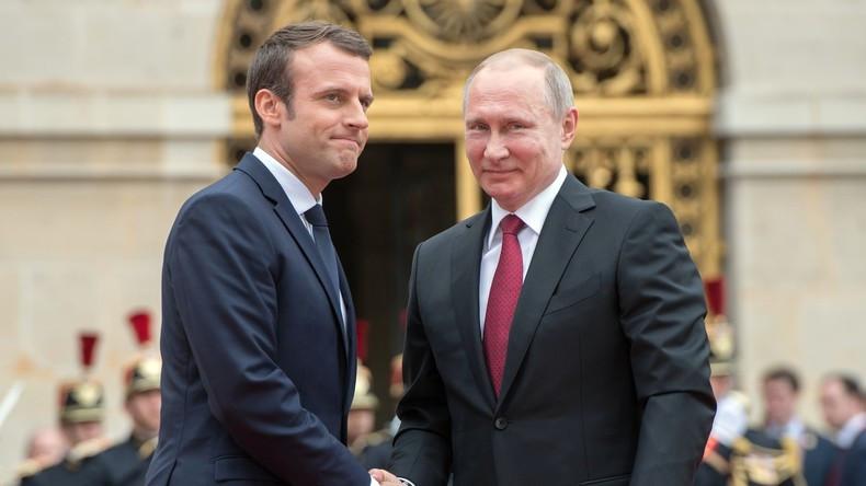 """Putin im Interview mit Le Figaro: NATO, Macron, """"russische Bedrohung"""" und Hacker"""