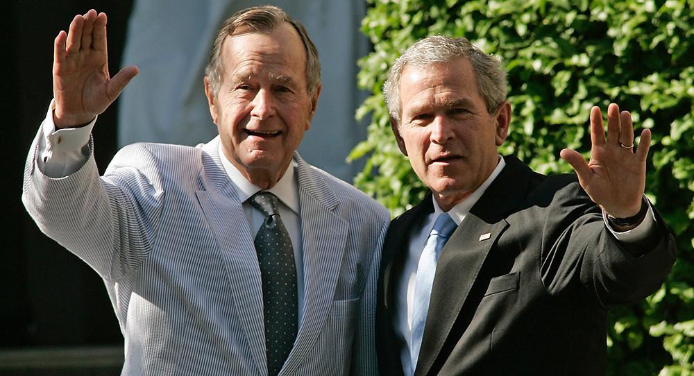 Bush Golf Krieg