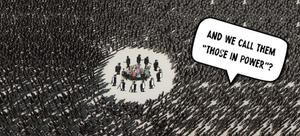 Elite Volk Menschen aufwachen