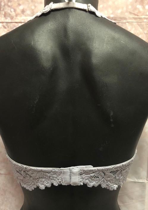 1c27600e981 Gray Undie Couture Halter Lace Bralette.   20.00. Wide