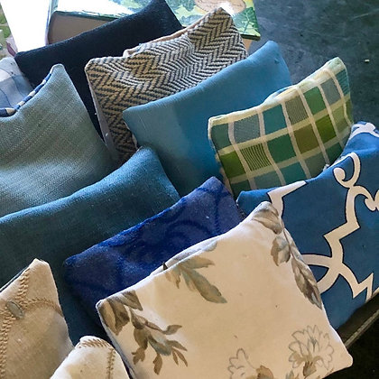 gorgeous printed and woven fabrics, filled with organic lavender and bay leaves known to promote relaxation and pest control