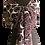 Tied with a flourish Semi-sheer Port Baroque Silk Chiffon Shawl, port, black, talc white