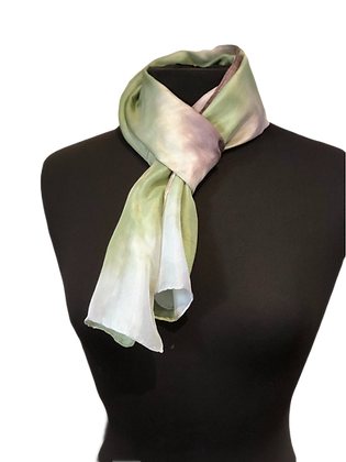 Silk Scarf - Silver Heather