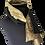 Thumbnail: Silk Shawl - Reversible Black Taffeta & Gold Medallion Jacquard