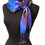 Thumbnail: Silk Scarf - Royal Verdigris Fringed Mesh