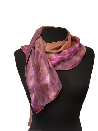 Silk Scarf - Fall Color Satin Stripe Jacquard Scarf