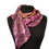 Thumbnail: Silk Scarf - Canyon Satin Stripe Jacquard Scarf