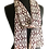 Lightweight Transparent Printed Silk Chiffon Maroon & Talc Mini Baroque Print Silk Chiffon Scarf draped