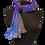 Thumbnail: Silk Shawl - Royal Verdigris Crinkle Chiffon
