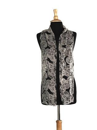 Silk Scarf - Dandelion Pouf Print Chiffon
