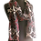 Gracefully Draped Semi-sheer Port Baroque Silk Chiffon Scarf, port, black, talc white
