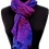 Euro Style Foxglove chiffon one seam poncho, a perennial floral favorite, a plummy ombré of purple and magenta.