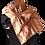 Thumbnail: Silk Shawl - Reversible Black Wool & Copper Medallion Jacquard