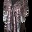 Thumbnail: Silk Scarf - Earth Tones, Anthracite Silk Devoré