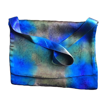 Royal Verdigris Silk Satin Evening Bag
