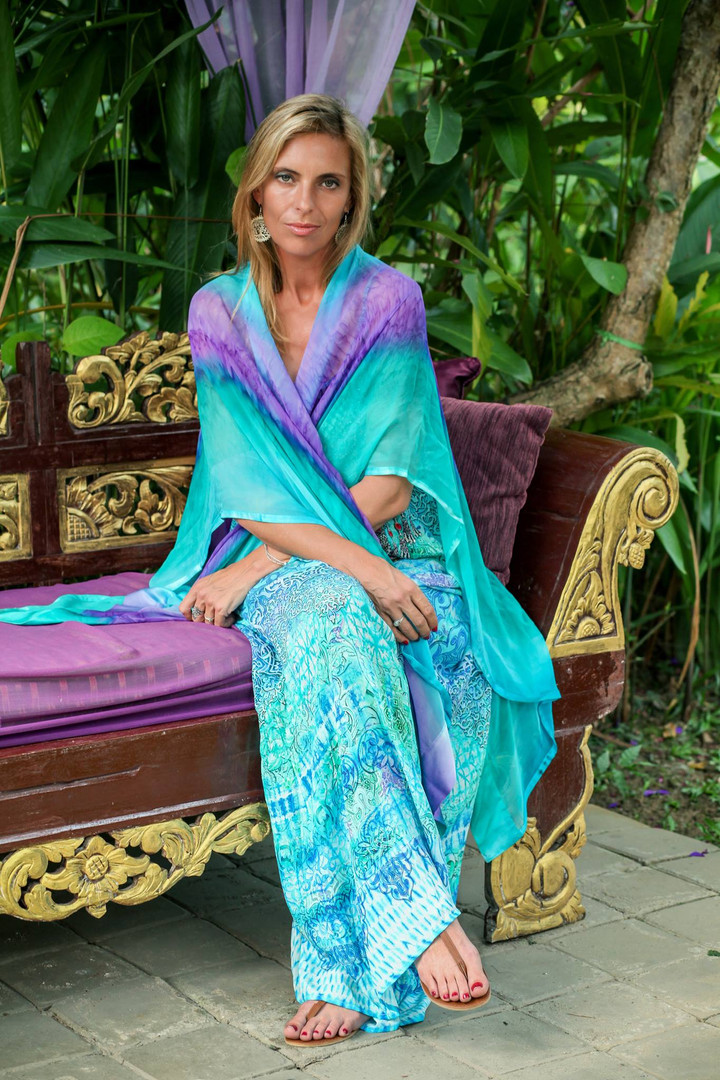 Turquoise Ruana Essential Travel Accessory